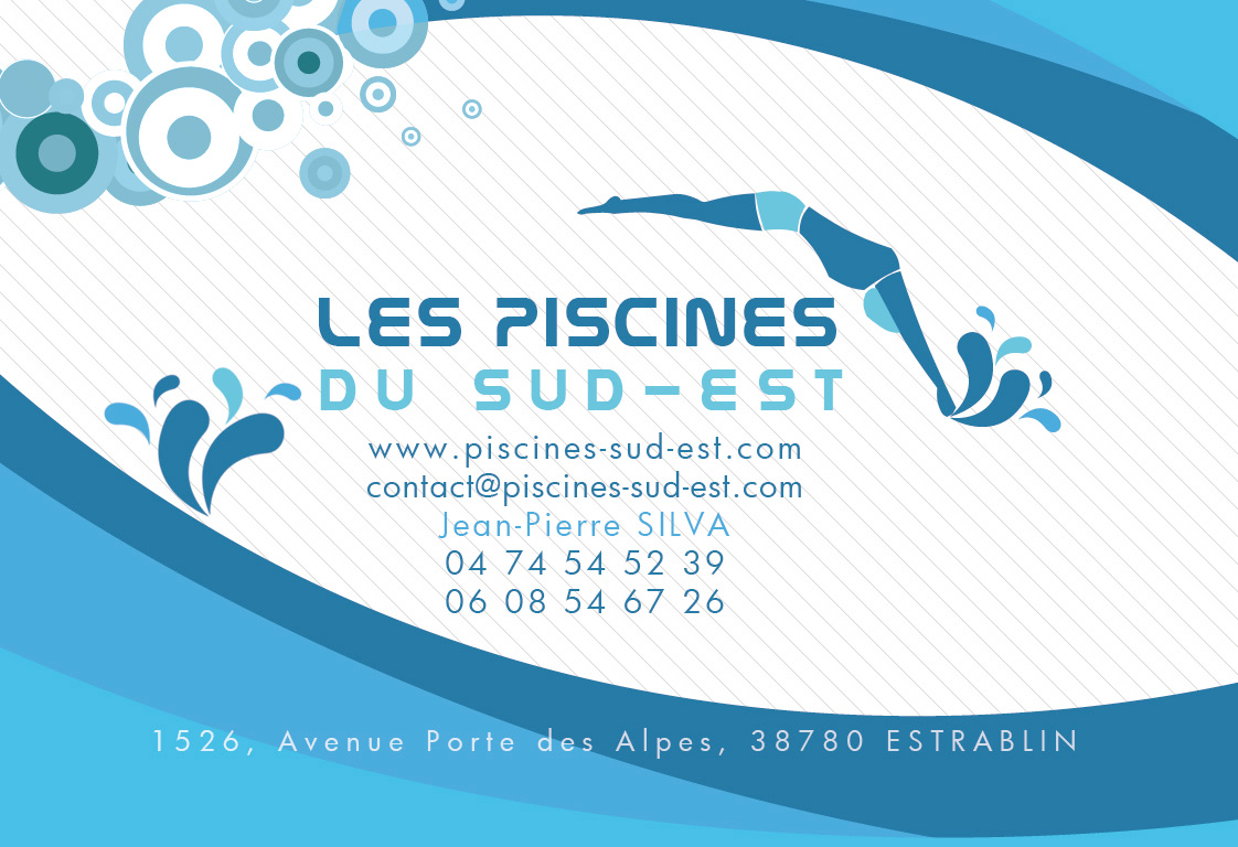 Carte De Visite Pscines Plaquette Commerciale Piscine Creation